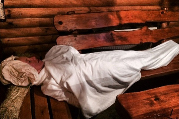 Телеведущая в восторге от украинской бани