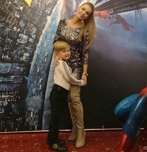 Евгения Гусева с сыном Даниелем