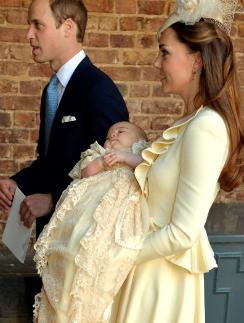 Герцогиня Кембриджская, принц Уильям и принц Георг