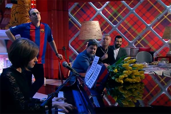 Наталья Поклонская сыграла «Мурку» на Первом канале