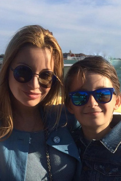 Ольга с сыном отметили в Италии его 13-летие