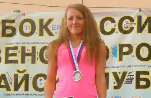 Кристина Мялина участвовала в нескольких конкурсах по тайскому боксу