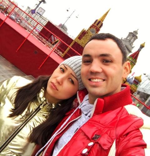 Александр Гобозов с невестой Надеждой