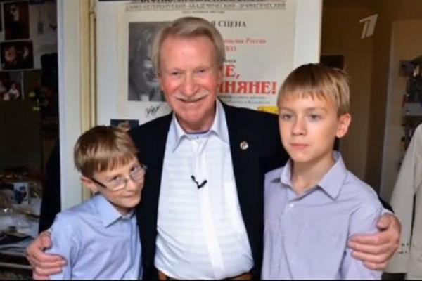 Иван Краско с сыновьями
