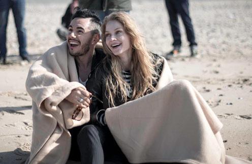 Светлана Ходченкова и Тимур Родригез на съемках клипа