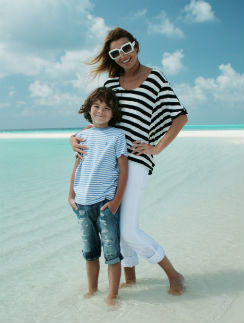 Анжелика Агурбаш с сыном
