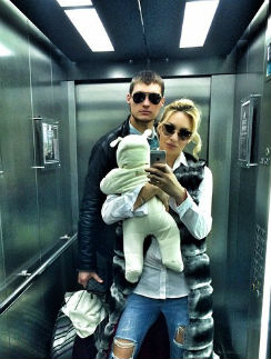 Элина Камирен и Александр Задойнов с дочкой Алексанрой