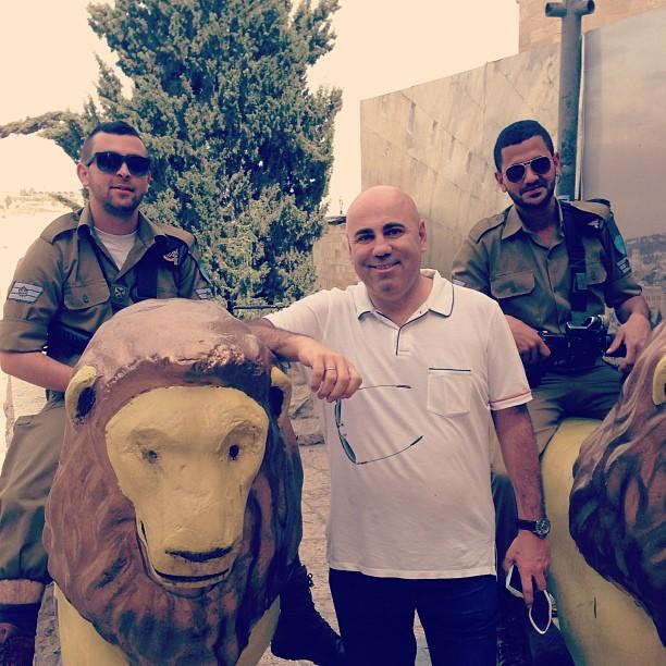 Пригожин с кавалеристами в Иерусалиме