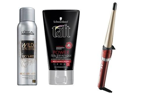 L'Oréal Professionnel Текстурирующая пудра для волос Next Day Hair, Taft гель для укладки Power, BaByliss Щипцы для завивки C20E
