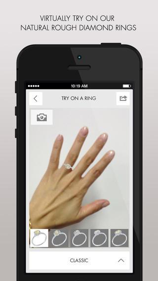 Установка приложения -Diamond in the Rough: Be Unique - Engagement Ring Try-On – бесплатно