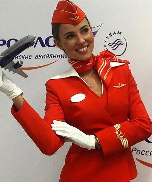 Валентину считают самой красивой стюардессой