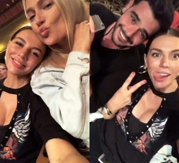 Анна Седокова с Натальей Рудовой и Микаэлом Арамяном