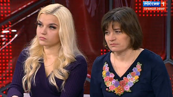 Сестра и мама Сергея Семенова