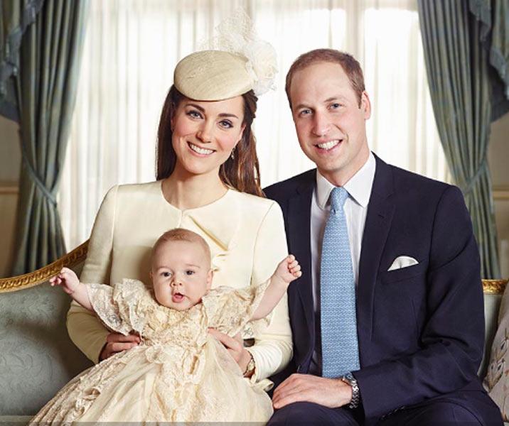 Кейт и Уильям с малышом Георгом