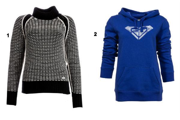 Пуловер Caractere и толстовка Quiksilver