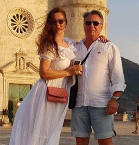 Екатерина Андреева с мужем Душаном