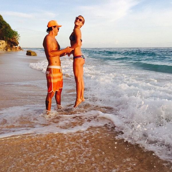 Предложение любимой Максим сделал на пляже на Бали