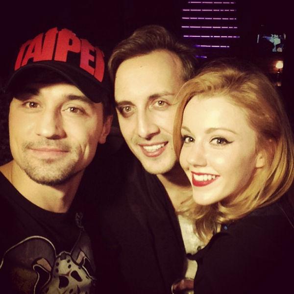 Дима Билан с солисткой группы «5sta Family» Юлианной Карауловой и ее мужем