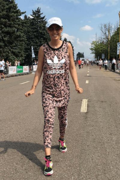 Ксения Собчак на благотворительном забеге