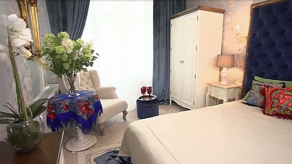 Дизайнер предложила проект спальни в стиле русской усадьбы
