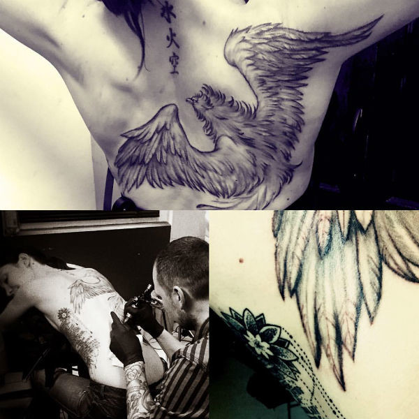 Девушка набила впечатляющие татуировки