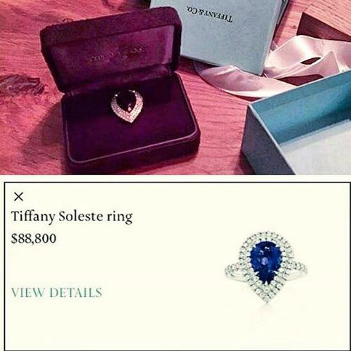Тима преподнес девушке кольцо Tiffany, стоимостью свыше 88 тысяч долларов