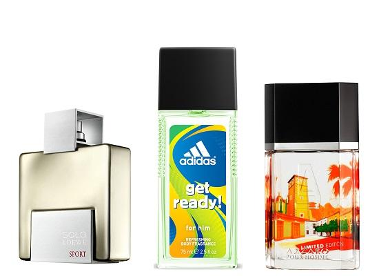 Туалетная вода SOLO LOEWE Sport (в продаже с июля) , Парфюмированная вода adidas Get Ready!, AZZARO pour homme Limited Edition 2014
