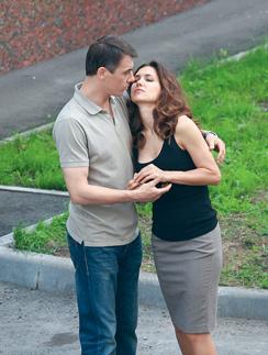 В перерывах между дублями супруги не скрывали чувств