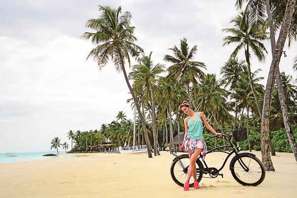 Юлия Паршута училась кататься на велосипеде