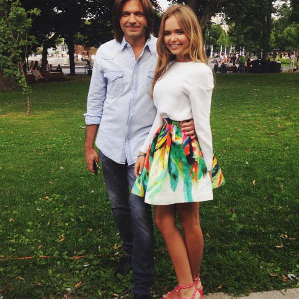 Стеша и ее знаменитый папа, автор песен и исполнитель Дмитрий Маликов
