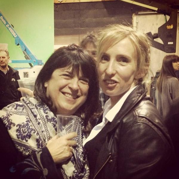 """Эрика Леонард (слева) с режиссером Сэм Тейлор-Джонсон: """"Кто-то из нас пьет"""""""