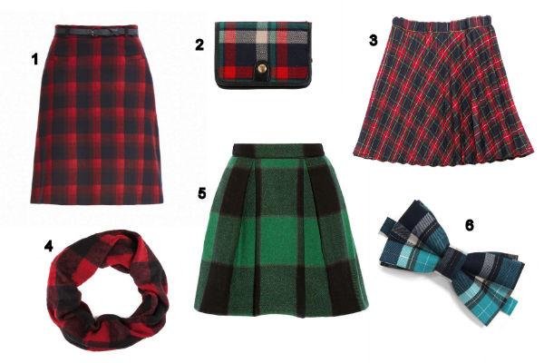 В моде и юбки, и аксессуары из шотландки