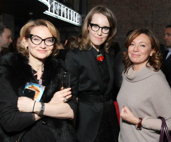 Эвелина Хромченко, Ксения Собчак и Валерия Роднянская