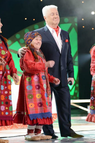 Наталья Яковлевна с Владимиром Винокуром на одном из концертов.