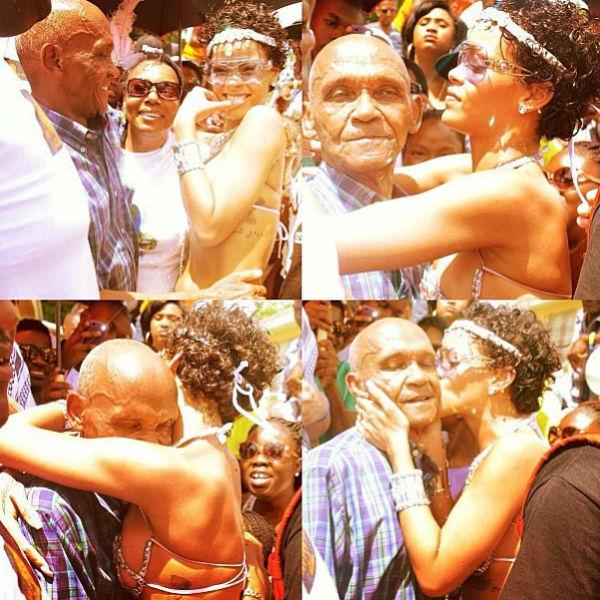 Одним из участников карнавала оказался дедушка поп-дивы, которого, похоже, ни капельки не смутил наряд внучки