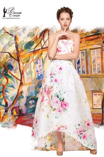 Модель Ксения Гусева впервые приняла участие в съемка календаря «Русский Силуэт»
