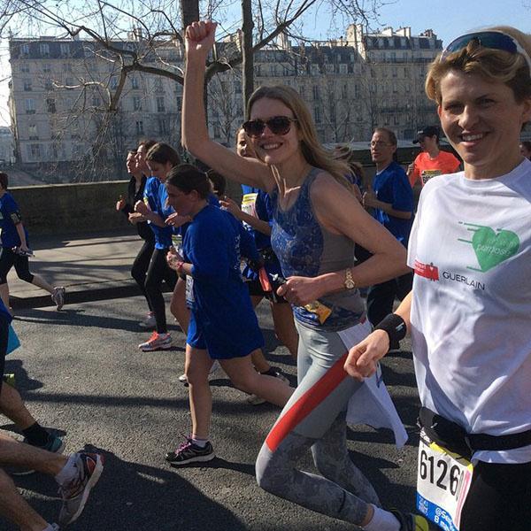 Наталья Водянова пробежала 21 километр!