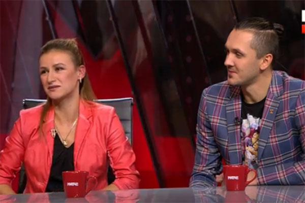 Татьяна Волосожар и Максим Траньков в гостях на «Матч ТВ»