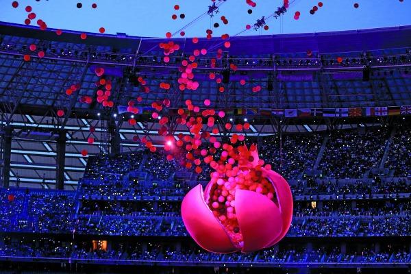 Церемония открытия первых в истории Европейских игр