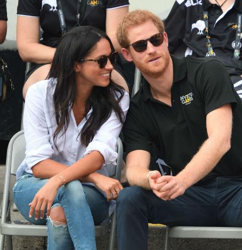 Принц Гарри вместе с Меган Маркл на теннисном турнире