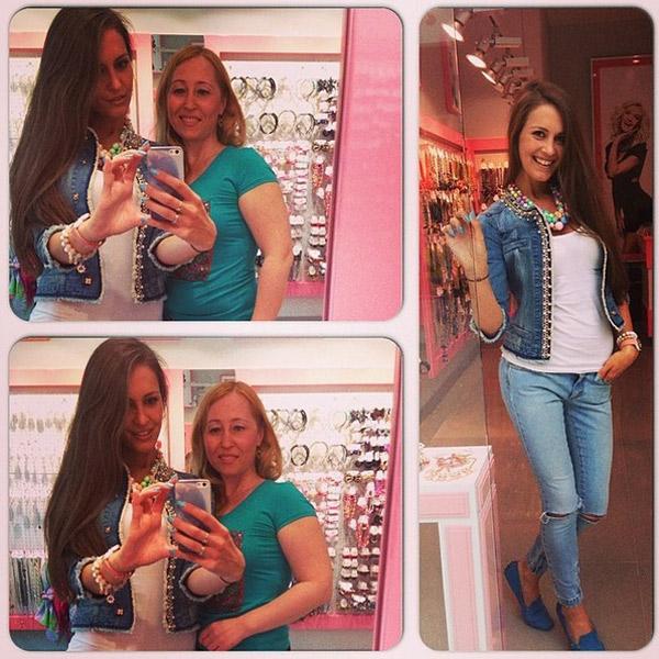 Анна Бузова уже в Петербурге и занята подготовкой к открытию вместе с директором магазина