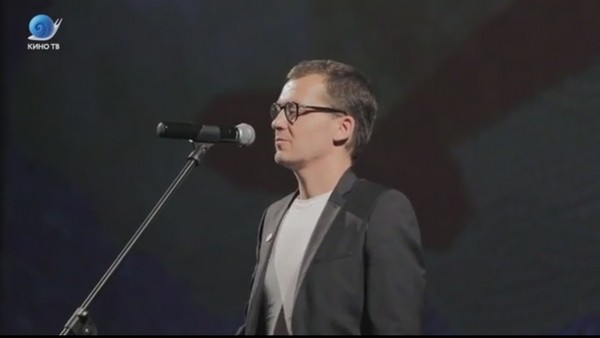 Роман Волобуев на презентации своего второго фильма