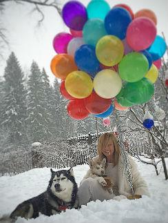 Алена Долецкая с любимыми хаски