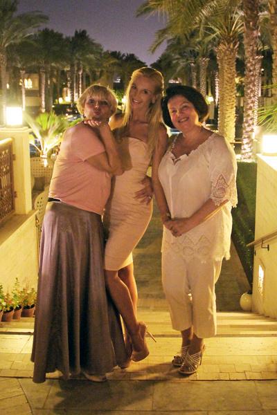 Ольга с мамой Ириной Александровной (справа) и свекровью Ольгой Александровной после праздничного ужина в честь их приезда