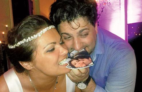 На торжество по случаю помолвки жених и невеста заказали особенный торт