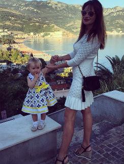 Елена Бушина с дочерью Лаурой