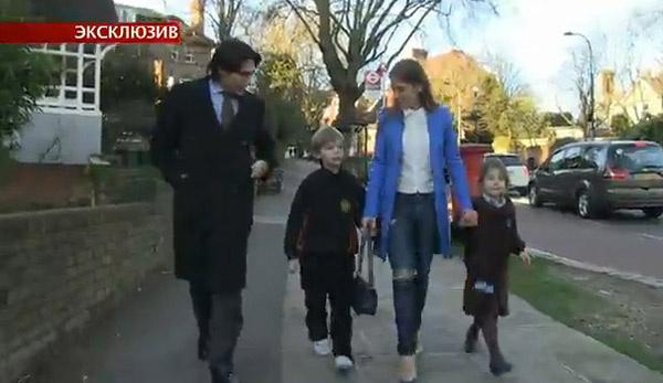 Андрей Малахов и Юлия Аршавина с детьми Артемом и Яной