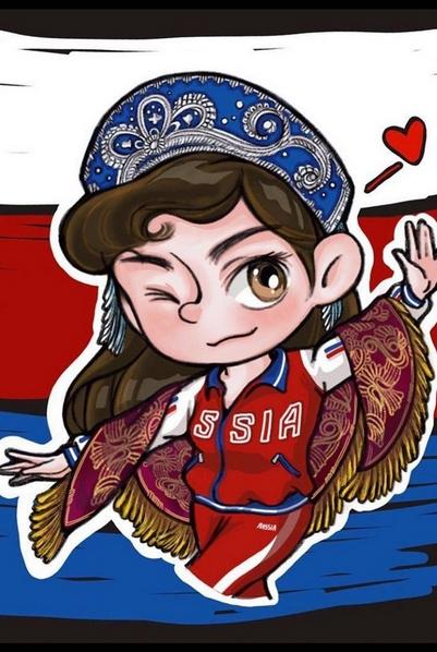 Фигуристка перепутала цвета российского триколора