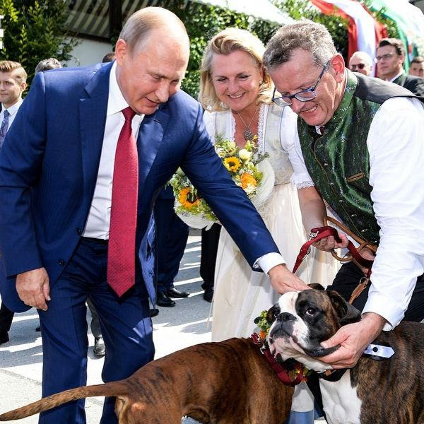 Владимир Путин, Карин Кнайсль с мужем Вольфгангом Майлингером