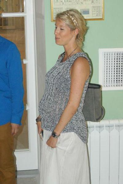 Александра Ярмольник в период беременности